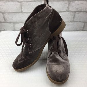 Indigo Rd Velvet Brown Lace Up Boots Size 8